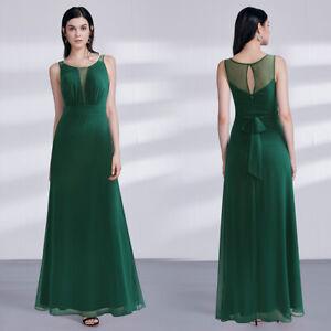 Ever-Pretty Silver Bridesmaid Dresses Fishtail Mesh Applique Evening Gown Maxi