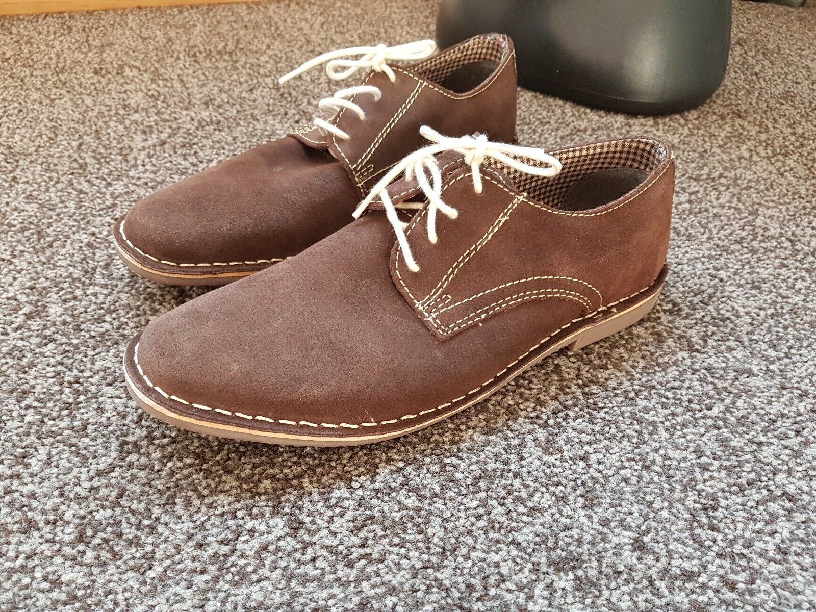 HOWICK BROWN SUEDE SHOES UK 10 NEW FREE UK PP