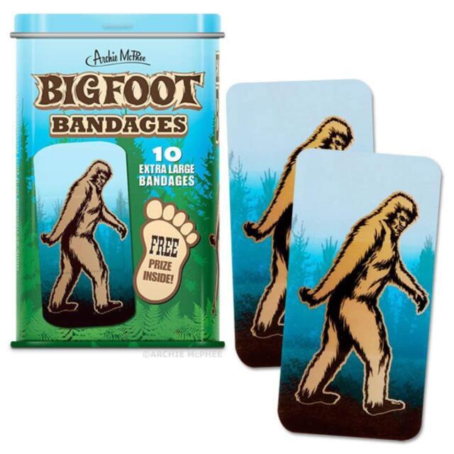 Bigfoot Extra Grande Vendas en Lata Metal Caja Primeros Auxilios por