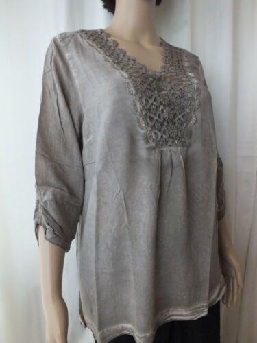 Damen Bluse GINA LAURA Shirt mit Spitze Größe 38 40 42    1648//9
