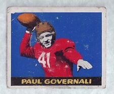 1948 Leaf Paul Governali #30 Football Card