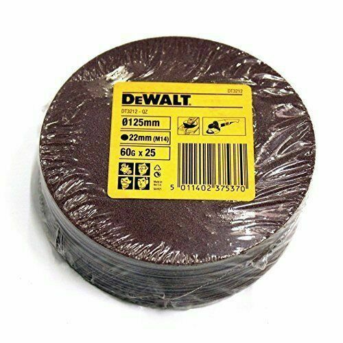 50 Dewalt DT3212 125mm 12.7cm Schleif 2 Packungen Faser Scheiben 60G Grob