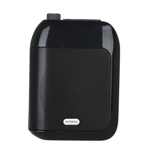 FM Microfon Sender Schwarz Sprachverstärker 15W Lautsprecher 20M Wireless