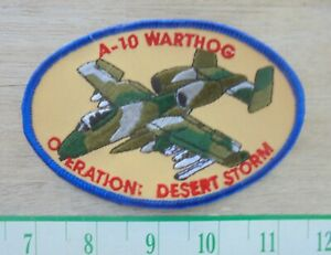 U.S. Air Force A-10 Warthog Operation Desert Storm Cloth sew on patch-new