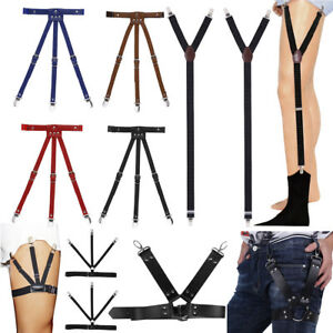Men's Suspenders Apparel Accessories 3 Clips Child Y Elastic Buckle Braces Polka Dot Kid Boy Girl Shirt Stay Locking Clamps Suspenders Adjustable Strap Garter Holder
