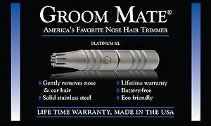Authentic-Groom-Mate-Platinum-XL-Nose-Hair-Trimmer-USA-Lifetime-Warranty