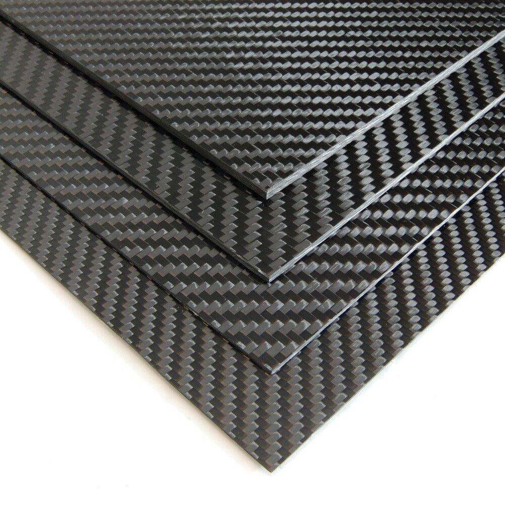 Hoja compuesta de gran 3K Fibra De Carbono 4.0mm X 400mm × 250mm 4mm Tejido de sarga