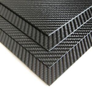 3K-Hoja-De-Fibra-De-Carbono-0-5mm-X-200mm-250mm-Negro-Tejido-de-sarga