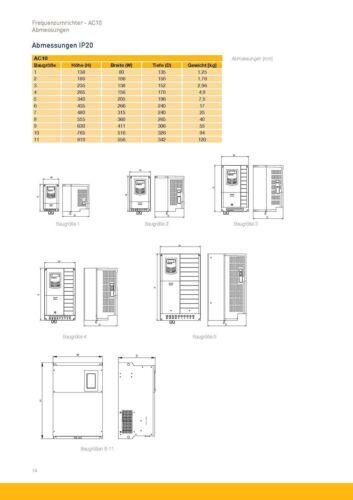 Antriebe & Bewegungssteuerung Frequenzumrichter AC10 Parker 10G-41 ...