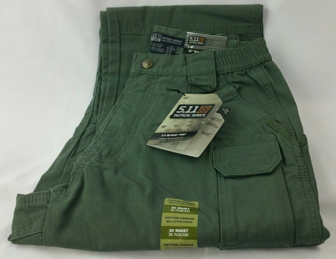 NEW MENS 5.11 100% Cotton Canvas Men's  Tactical Pant 182 OD Green 30 x 36 74251  support wholesale retail