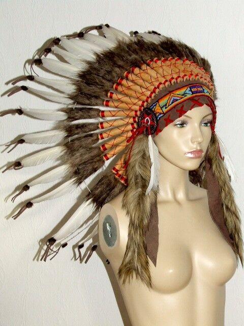 federhaube,warbonnet,42cm,42 federn,indianer,mandala,indianerschmuck,kopfschmuck