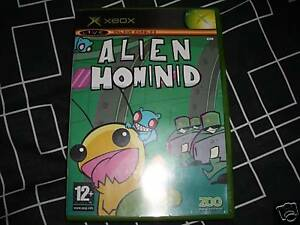 ALIEN-HOMINID-MICROSOFT-XBOX-RARE-Boxed-Instructions