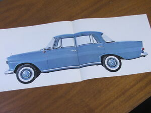 1964 Mercedes-Benz 190/190D original 26 page brochure plus specification sheets