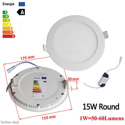 6W 9W 12W 15W 18W 21W LED Recessed Ceiling Panel Down Lights Fixture Lamp White