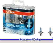 2 LAMPADE LAMPADINE OSRAM COOL BLUE INTENSE H4 12V 60/55W +20% 4200K LUCE BIANCA