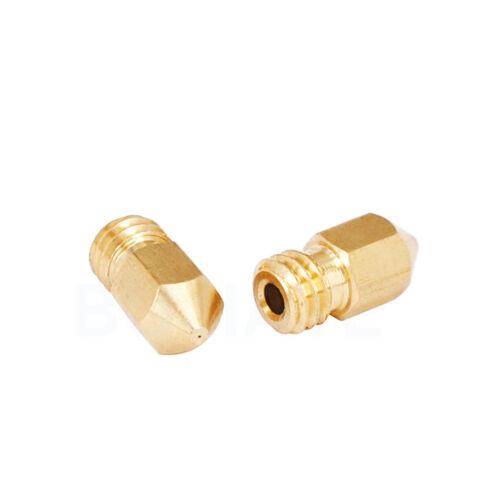 Brass MK8 Extruder Nozzle 0.2//0.3//0.4//0.5mm For 1.75mm Makerbot 3D Printer