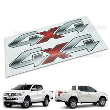 Sticker Logo 4x4 Gray Off Road Decal Intake Mitsubushi L200 Triton 2015 16 17