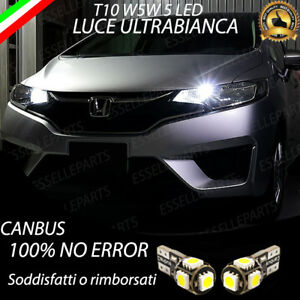 Coppia Luci Posizione 5 Led Per Honda Jazz Mk4 Iv T10 W5w Canbus No