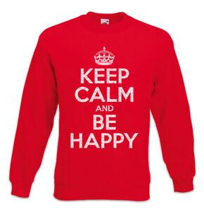 Sweatshirt en Houd Gelukkig Pullover Lucky Kalm Blessed Fun ben Felicitous wI55qBUp