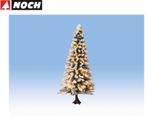 NOCH-H0-Tt-22130-Lighted-Christmas-Tree-Snowy-With-30-Leds-New-Boxed
