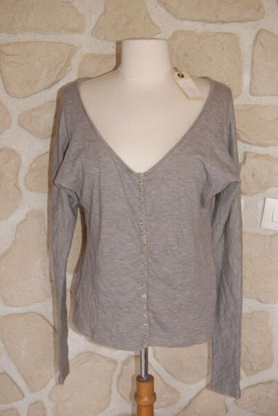 Cordiale Gilet Beige Marque Taboo Neuf Taille 1 (b)