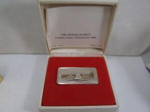 (2) Weihnachten Silber Stangen Franklin Ungebraucht Coa Garantiert 500 Körner Exquisite Handwerkskunst;