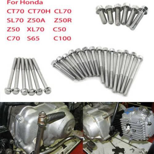 Engine Side Case Screw Bolt Bolts Set For Honda Z50 CT 70 90 SL70 XL70 Z50R CL70