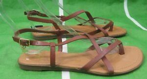 Mujer Zapatos Talla Para Verano Dama 7 Nuevos Sandalias Marrón v8Nmn0w