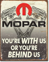 Mopar - Behind Us Vintage Style Metal Signs Man Cave Garage Decor