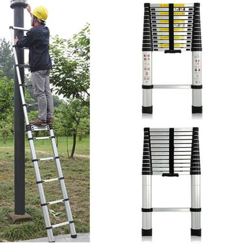Telescopic Loft Ladder 2.6M-5M Step Extendable Collapsible Ladders Securing Bolt