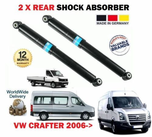 FOR VW CRAFTER 30-35 30-50 VAN BUS CHA 2006-/> 2X REAR SHOCK ABSORBER SHOCKER SET