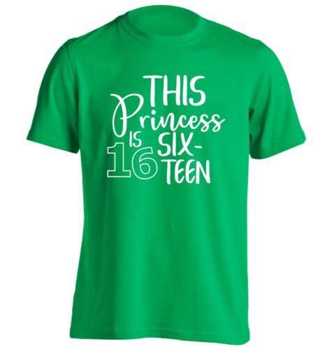 T-shirt 16th 18th Cette princesse est seize 21st Personnalisé Anniversaire 4764
