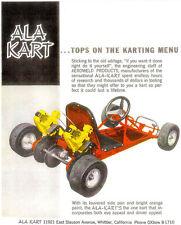 Vintage And Rare Color 1961 Ala Kart Go-Kart Ad