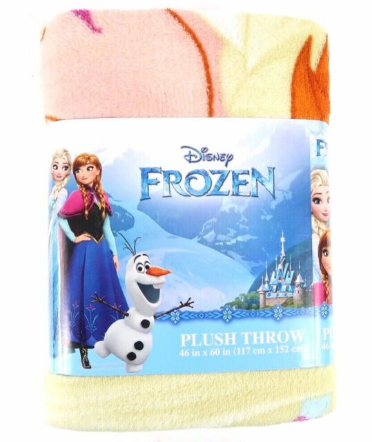 Disney Frozen Snow Queen Plush 60x80 Twin Size Throw//Blanket