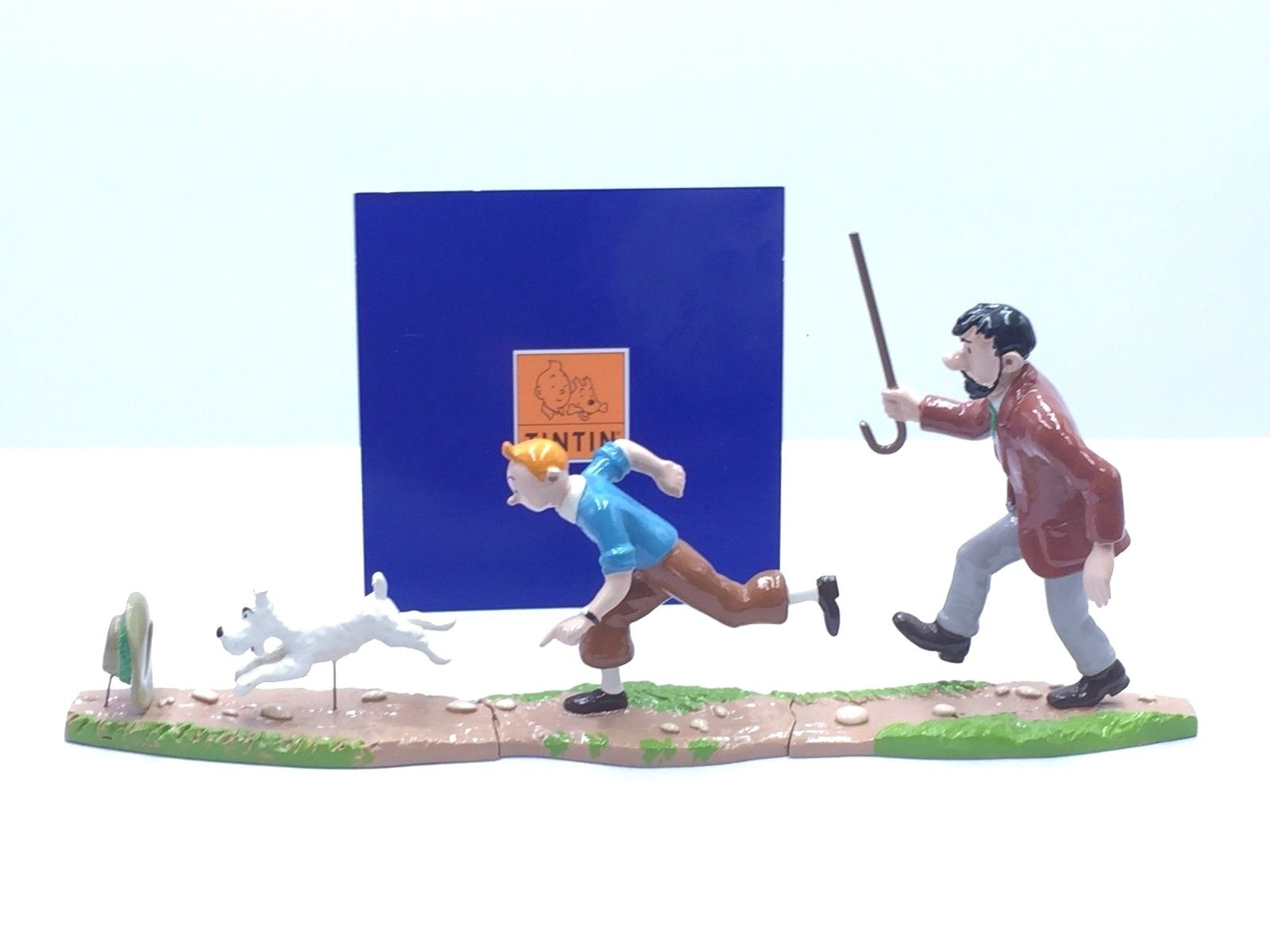 Figurine Tintin Scène Puzzle Haddock Poursuite   Pixi