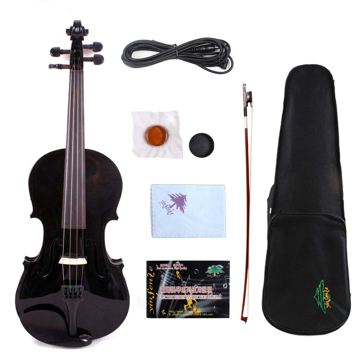 Yinfente Electric Acoustic Violin 4 4 spruce+maple handmade Free case&bow EV1