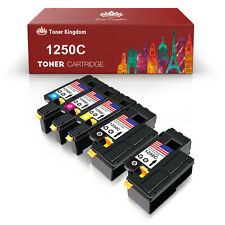 5PK 1250 Toner Cartridge Black Color Set For Dell Laser C1760nw C1765nf C1765nfw