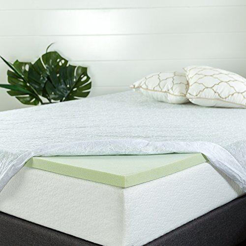 1.5 inch Mattress Topper Green Tea memory foam Full size pad cooling down nature