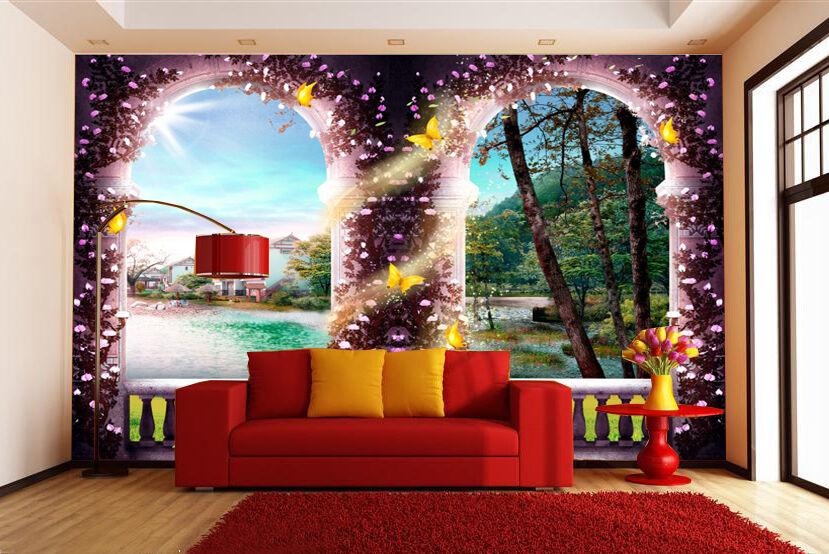 Huge 3D European Scenery Wall Paper Wall Print Decal Wall Deco Indoor Wall Mural