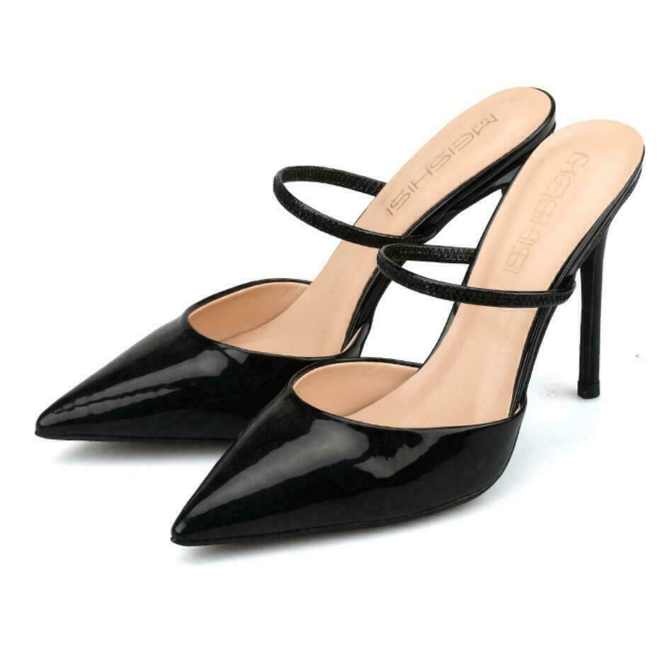 Cuir Femme Chaussures Verni Hauts Taille chaussures Sandales