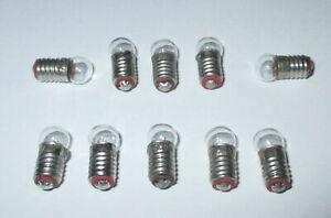 """Glühbirne E10 3,5V Birnchen für Krippen- Puppenhauslampen 10 Stück  /""""NEU/"""""""