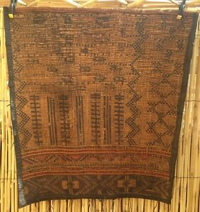 Saharan Tribal Tent Rug, Reed And Leather,