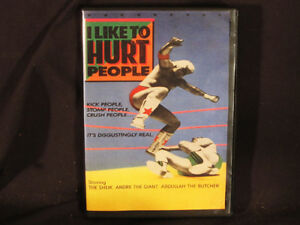 I-LIKE-TO-HURT-PEOPLE-The-Original-Wrestling-DVD-Signed-by-Producer-Free-Shiping