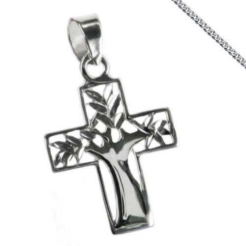 Cruz cruz colgante 925 plata vida árbol comunión de nuevo primera comunión con cadena