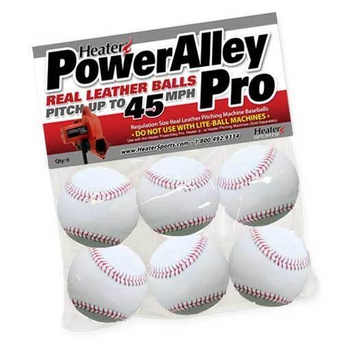 Heater Sports Poweralley Pro Leather Pitching Machine Baseballs