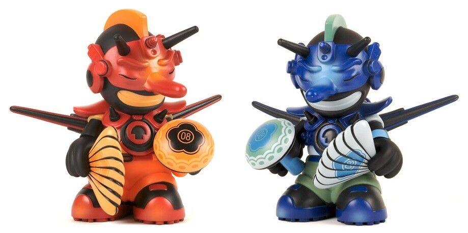 nueva gama alta exclusiva KIDROBOT figura 7' Mascota 08 Damon Soule Tengu Negro/Azul 1111 1111 1111 un. Sellado  Tu satisfacción es nuestro objetivo