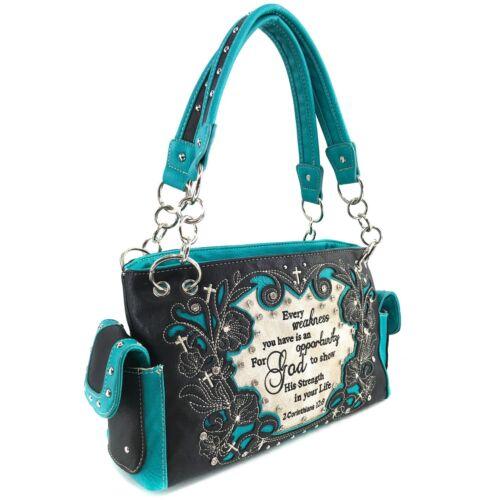 Justin West God Strength in your Life Corinthians Conceal Carry Shoulder Handbag
