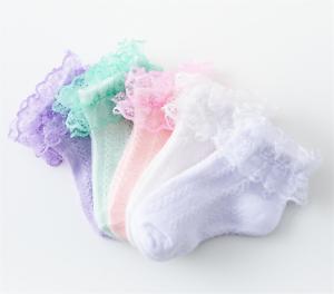 Kids-Children-baby-Girls-Summer-Lace-Frilly-Ruffle-Formal-Dress-short-Socks-0-9y