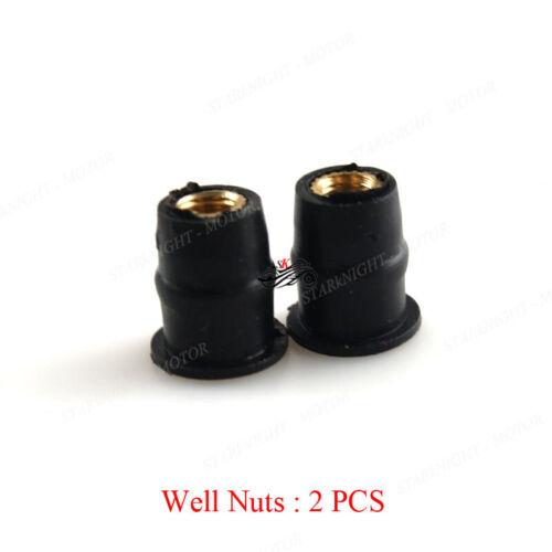 5MM Motorcycle Windshield Well Nut Wellnuts Rubber WellNut Metric Copper Nut M5