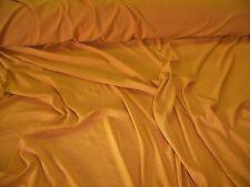 LIGHTWEIGHT STRETCH VISCOSE VOILE JERSEY-GOLD -DRESS FABRIC-FREE P&P